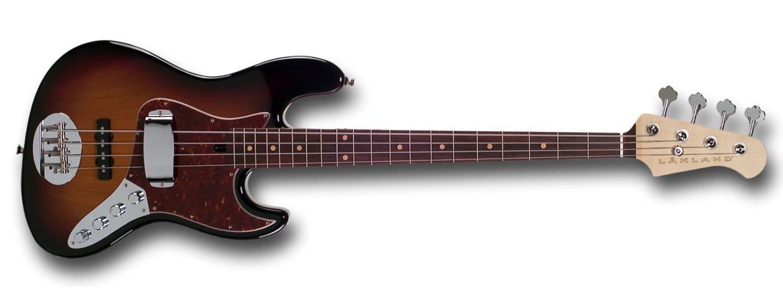 Lakland USA Series 44-60 3 Tone Sunburst 4 string electric bass guitar