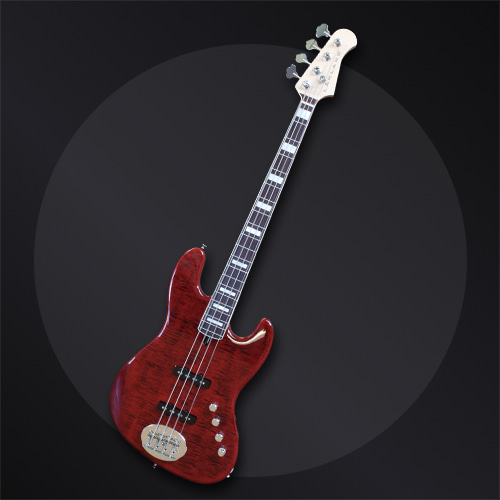 USA Series 44-AJ Deluxe Translucent Red With Pearl Blocks-min