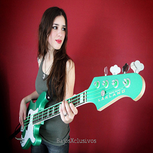 Luli Bass plays a Lakland Skyline Series 44-64 bass