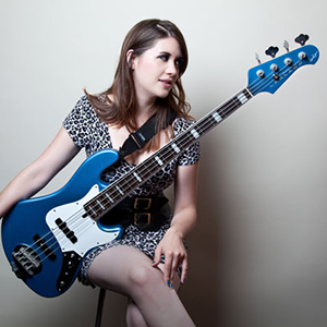 Kat Bax plays a Lakland DJ-4 bass