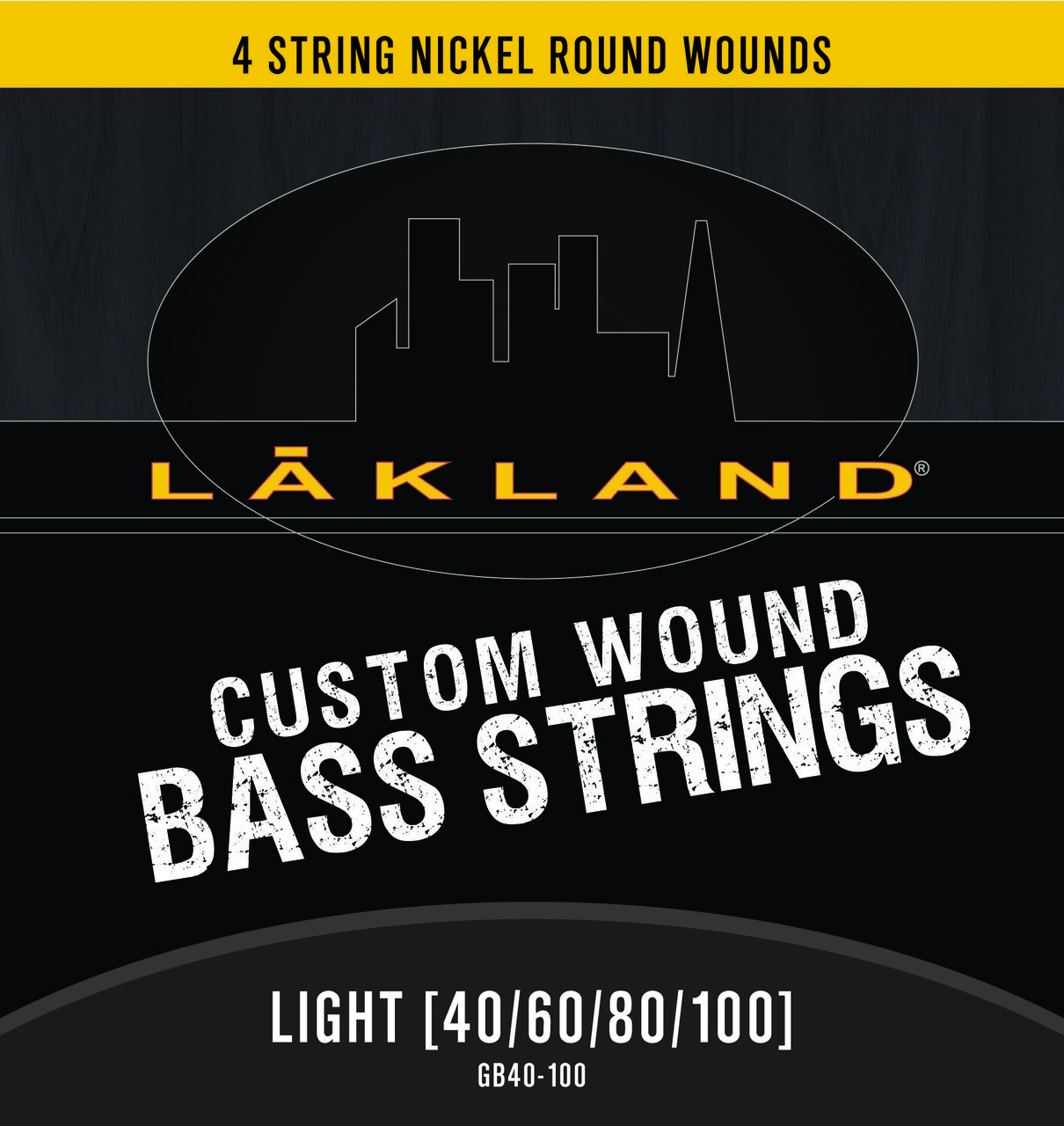 Lakland 4 String Nickel Round Wound Light Gauge Bass Strings