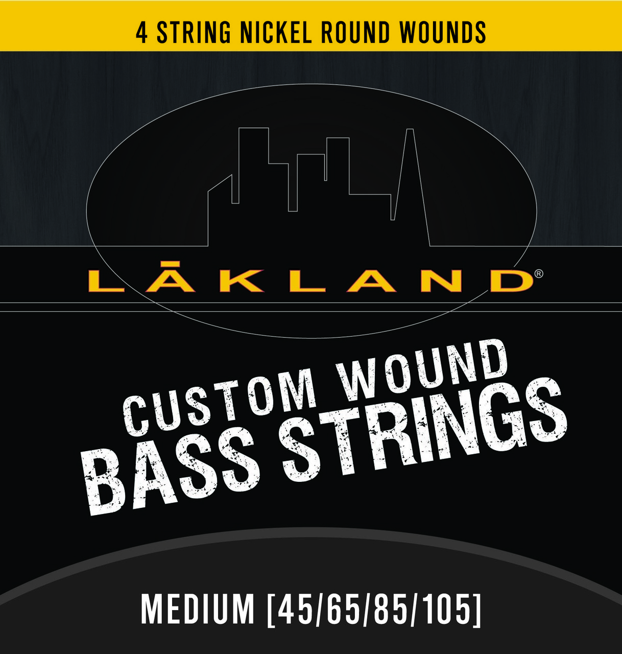 Lakland 4 String Nickel Round Wound Medium Gauge Bass Strings
