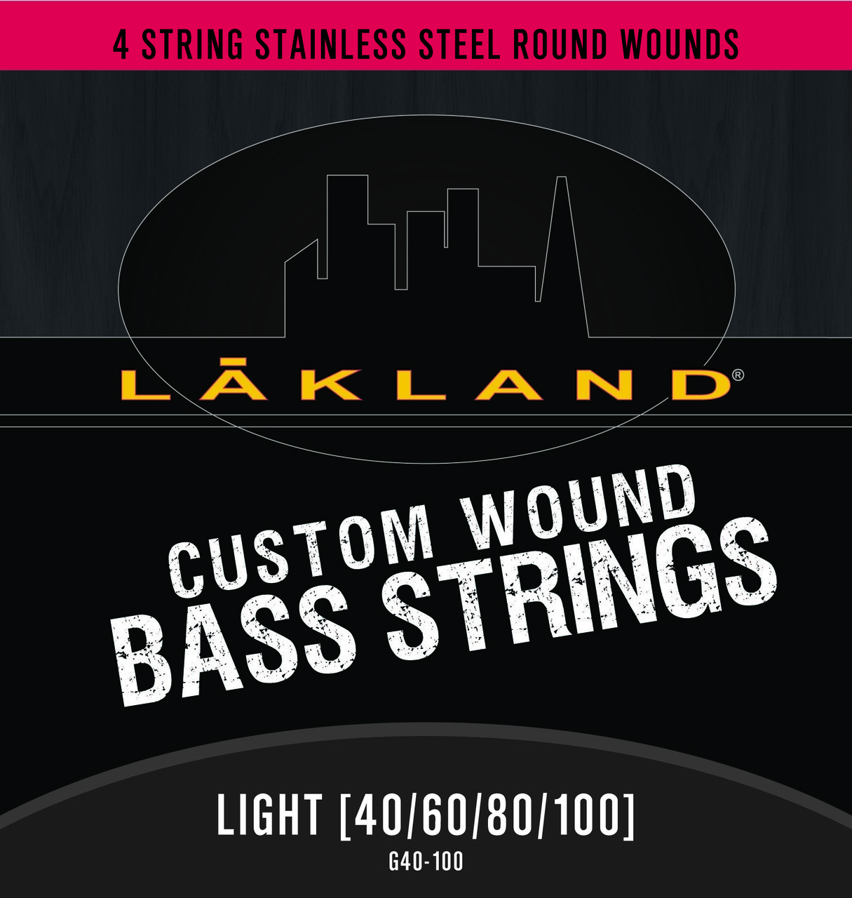 Lakland 4 String Stainless Steel Round Wound Light Gauge Bass Strings