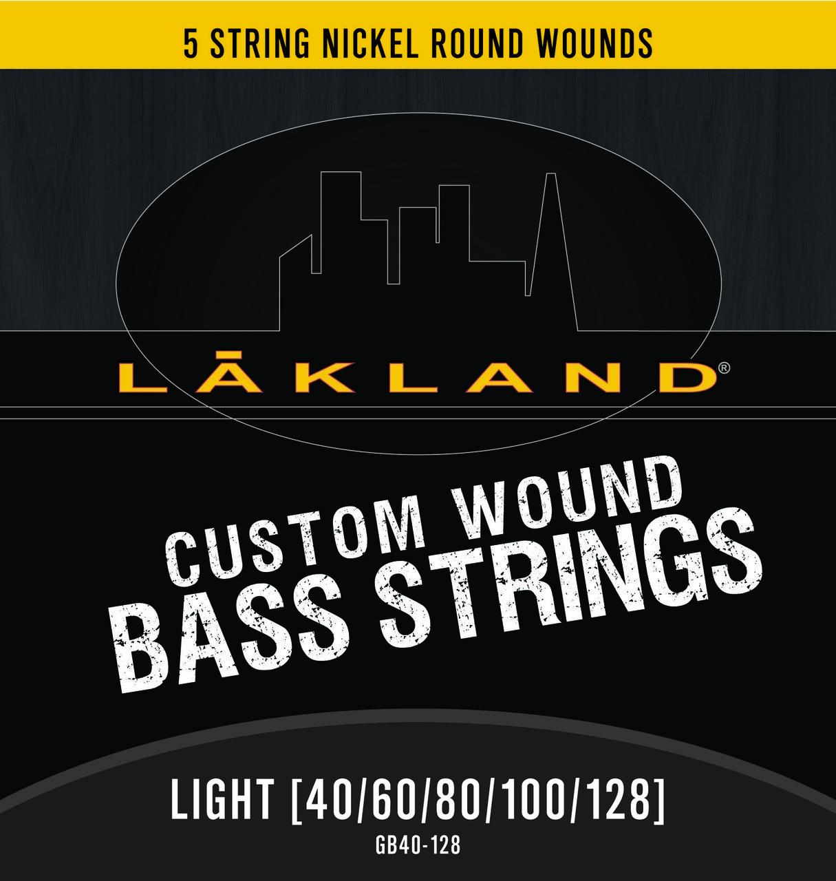 5 String Nickel Round Wound Light Gauge Bass Strings