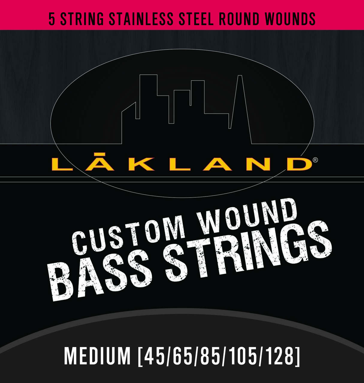 5 string bass strings stainless steel round wound medium