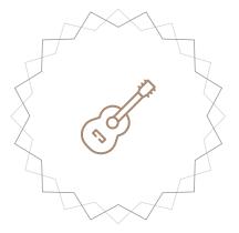 Flat guitar icon