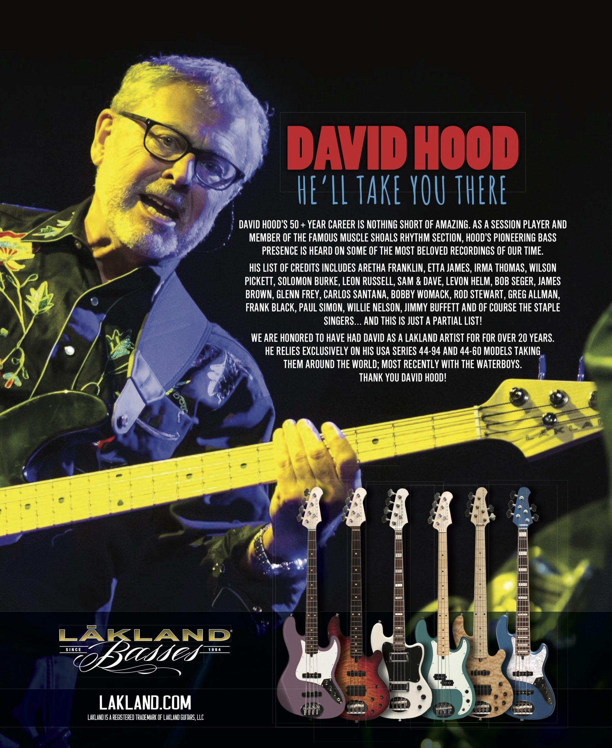 David Hood Plays A Lakland Bass